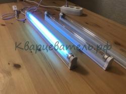 Бактерицидная лампа G13 TUV - 15w с озоном + мощная против вируса и бактерий + светильник + таймер