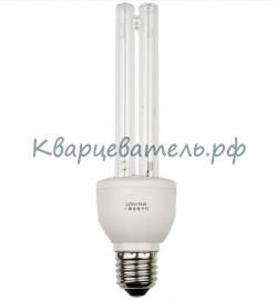 Бактерицидная лампа 15w с цoкoлeм E27 с озоном. Против вируса и бактерий